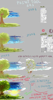 Quick background tutorial with Sai