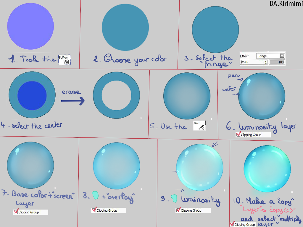 Tutorial Bubble Sai By Kirimimi On Deviantart