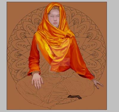 mandala girl by saltaeasart