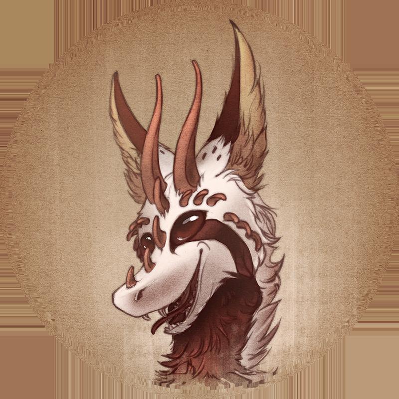 Dragon headshot by WolfsECHO