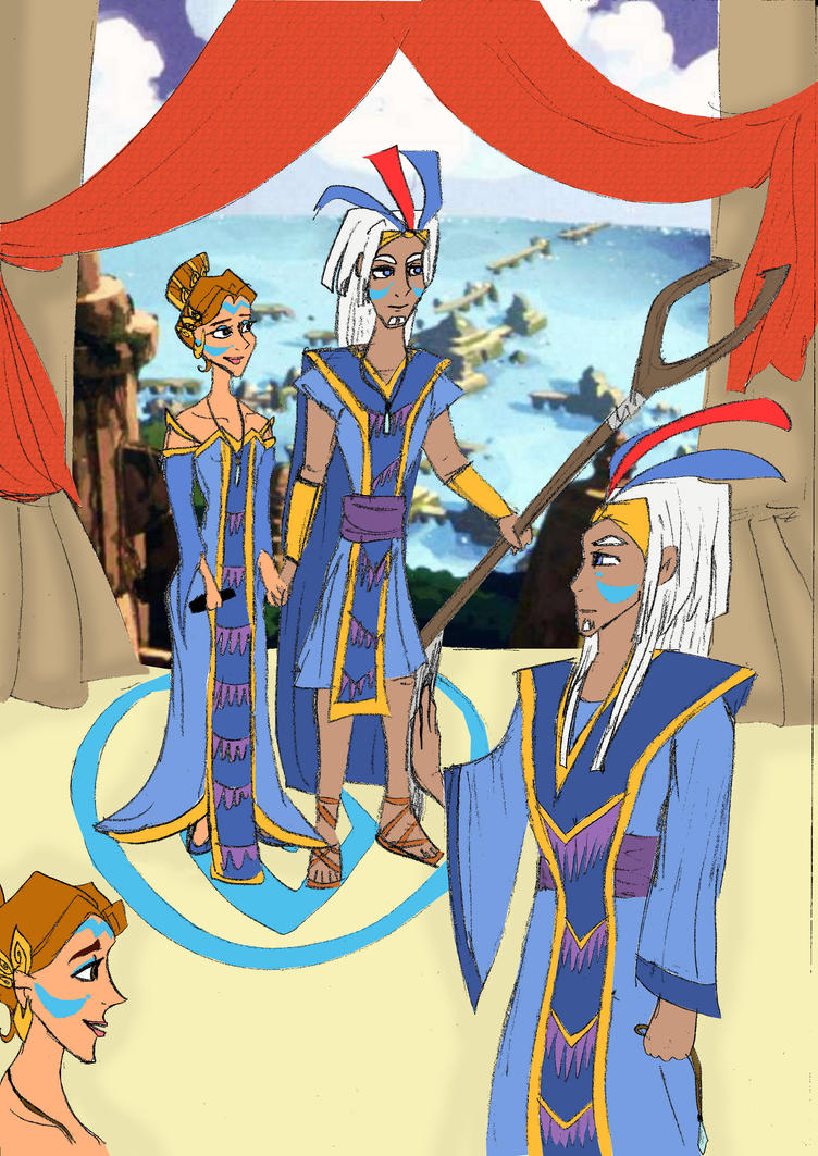 Atlantean Royal Couple by Kayleeya778