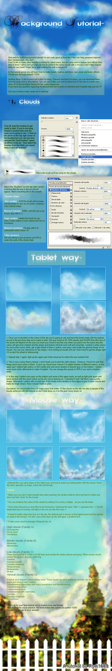 Background tutorial : Clouds by rydi1689