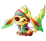 Pirate Leafeon - Buried Treasure Charity Collab!