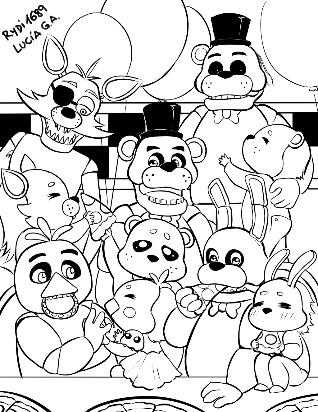 Fnaf Sister Location Coloring Pages - Five Nights At Freddy's ... | 1325x1024