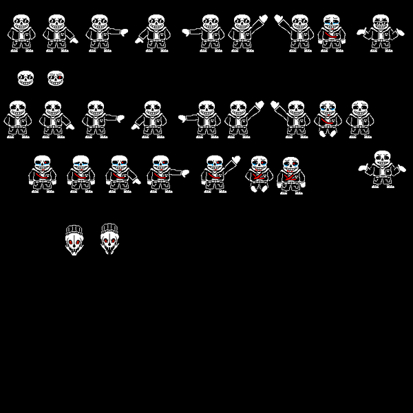 97 Pc Computer Undertale Sans The Spriters Resource Outertale Sans