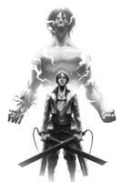 Shingeki no Kyojin - Eren Jaeger by Geoffrey-E