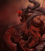 Warcraft - Grom Hellscream by Geoffrey-E