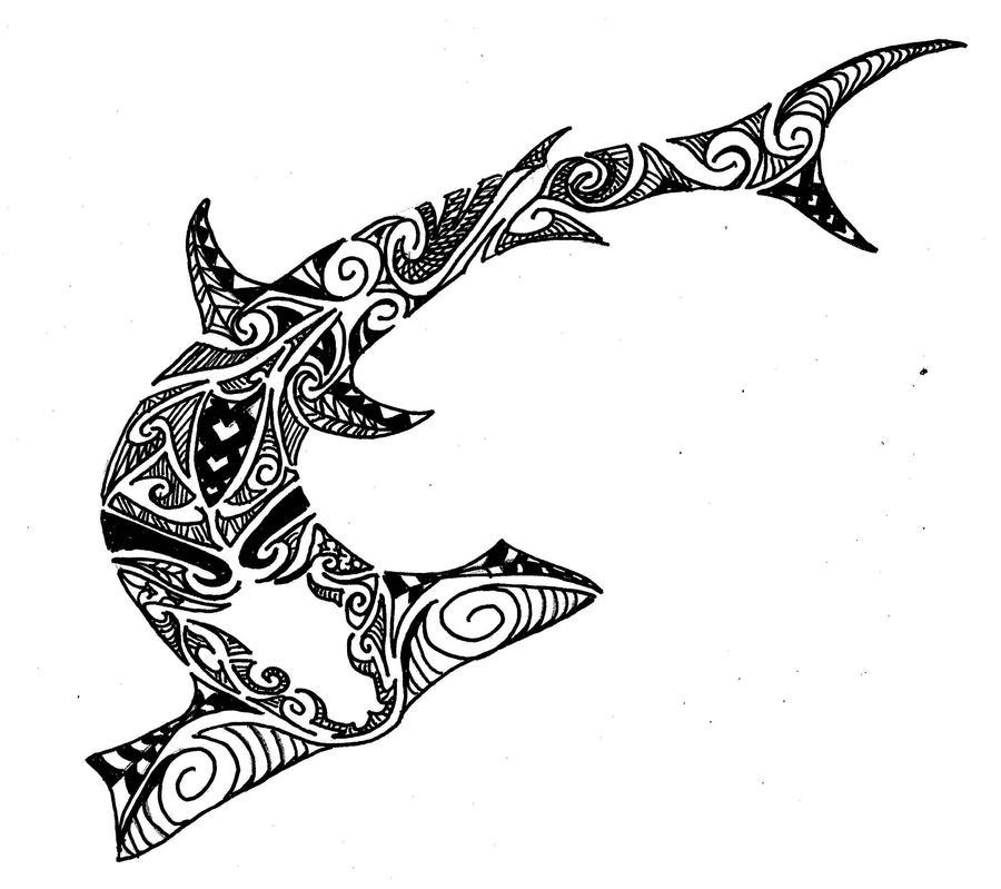 Polynesian Tribal Wallpaper: Hammer Shark Polynesian Design By Jeraud92140 On DeviantArt