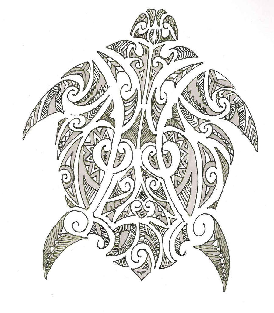 Maori Tattoo Design Wallpaper Wp300369: Polynesian Turtle Design By Jeraud92140 On DeviantArt