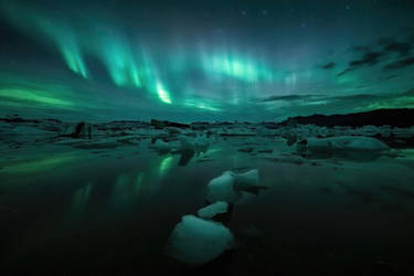 Jokulsarlon Auroras