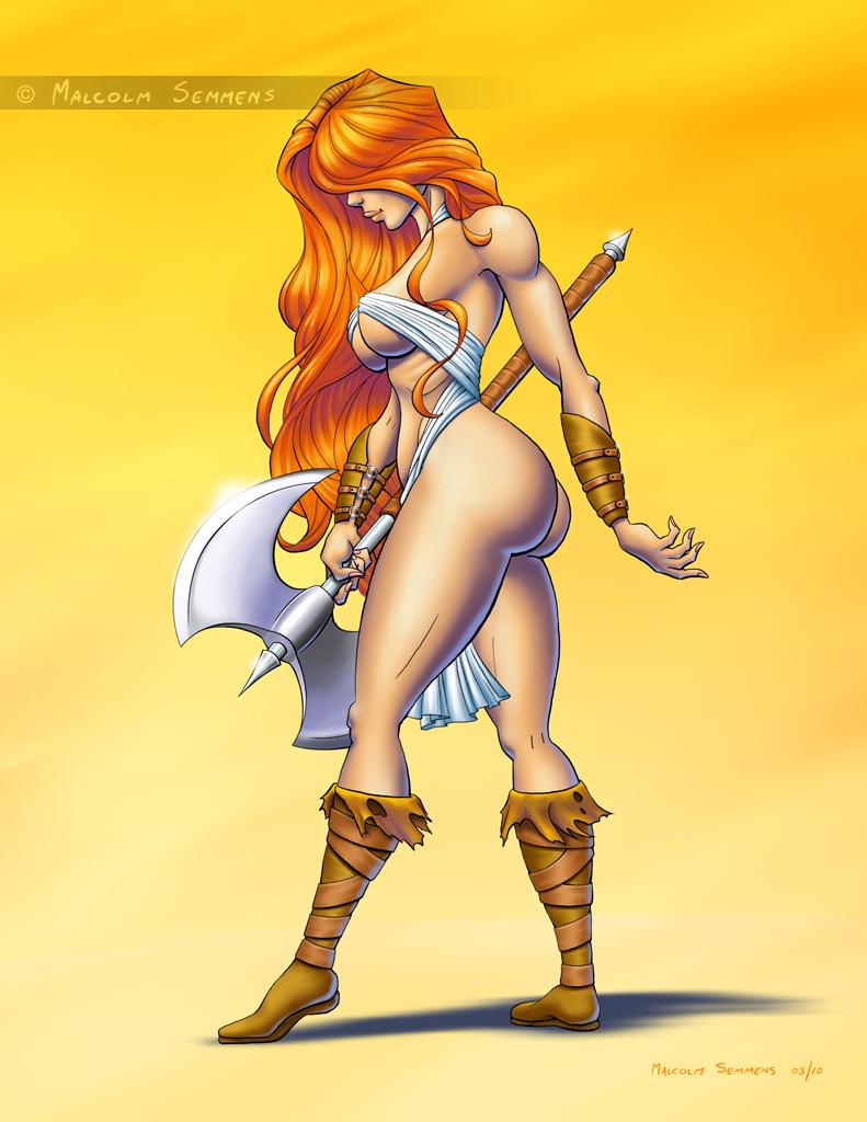 Battle Axe Drawing Lady Battleaxe By...791