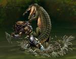 Predator vs Croc colours