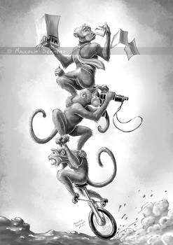 Unicycle Monkey Stack