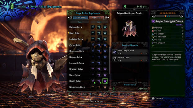 My Palico's Third outfit 3