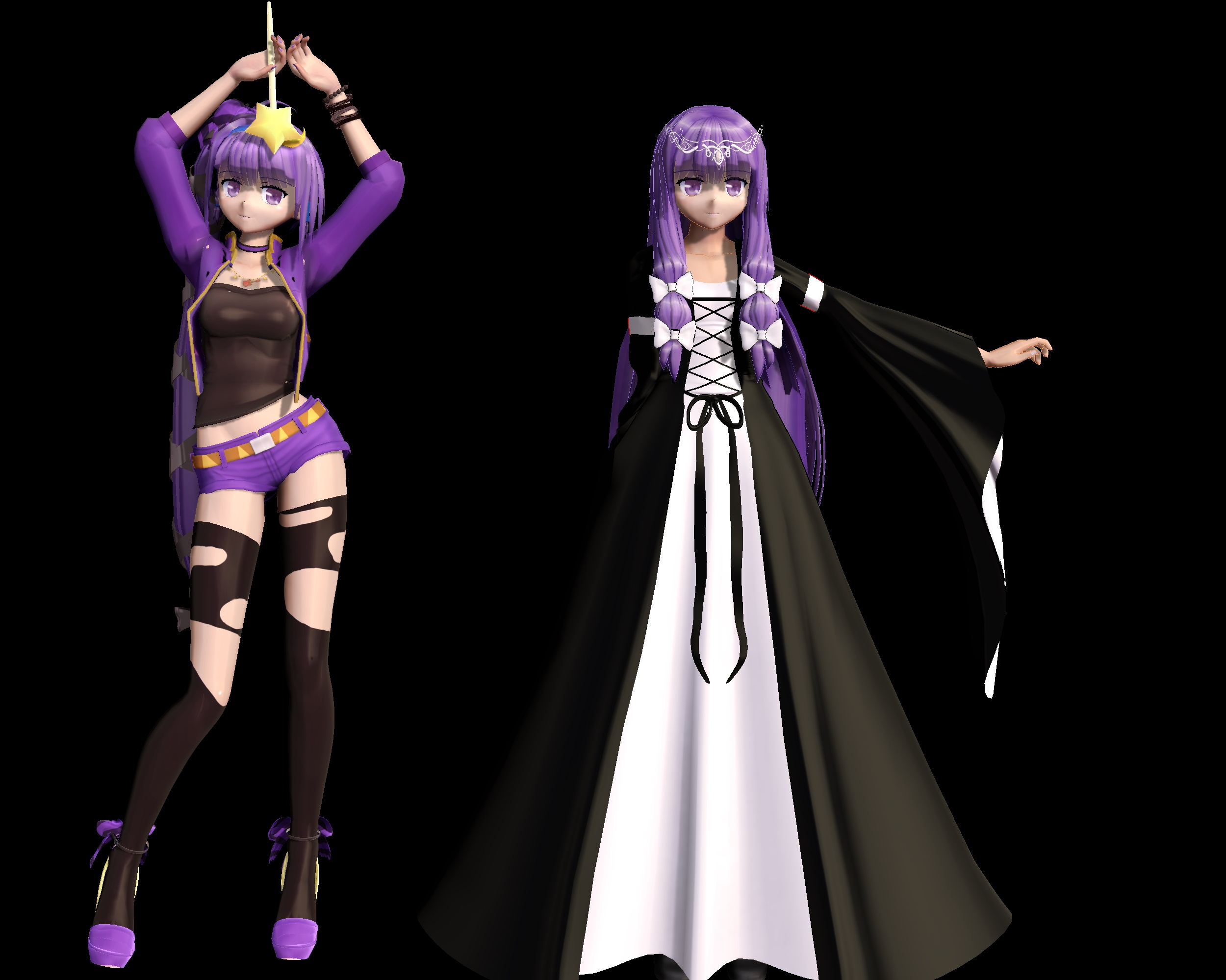 3d mmd patchouli knowledge dances to good luck 4
