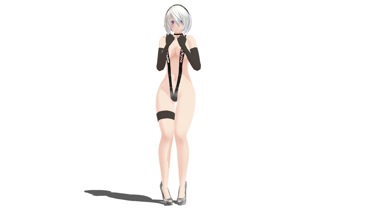 3d mmd nier automata 2b gets fucked in cakeface 2