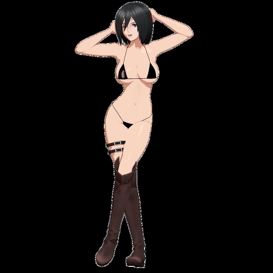 3d mmd mikasa ackerman big tits and ass body to body 9