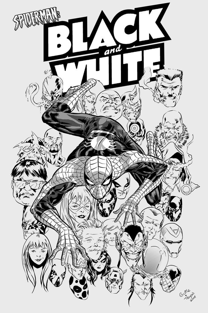 Spider-Man Black and White v1 by The-3DArtist on DeviantArt