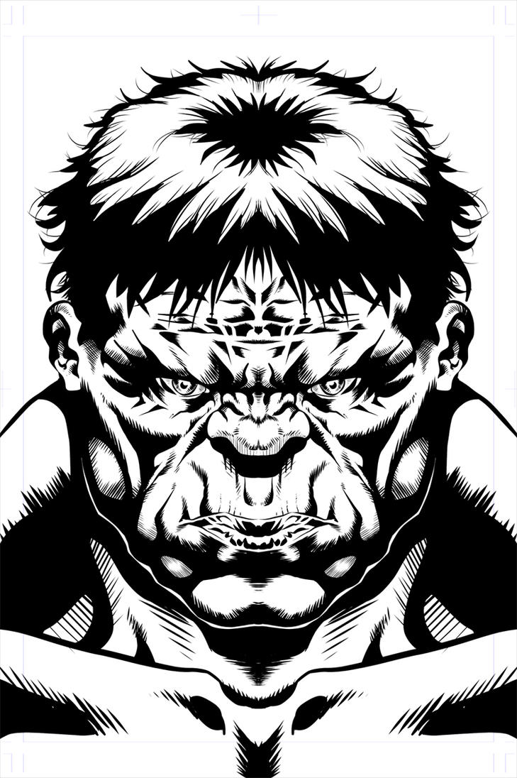 Hulk Face Line Drawing : Hulk face now in d by the dartist on deviantart