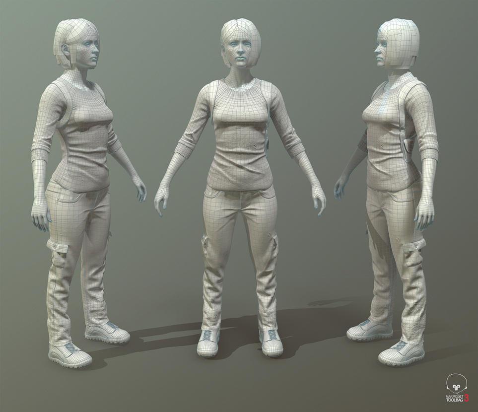 Teyon-alexander-natalie-wires by The-3DArtist