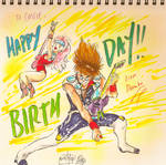 Nekki Basara and Mylene Jenius (Birthday card)