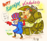 PERFECT WACKY SOLDIERS (Birthday card)