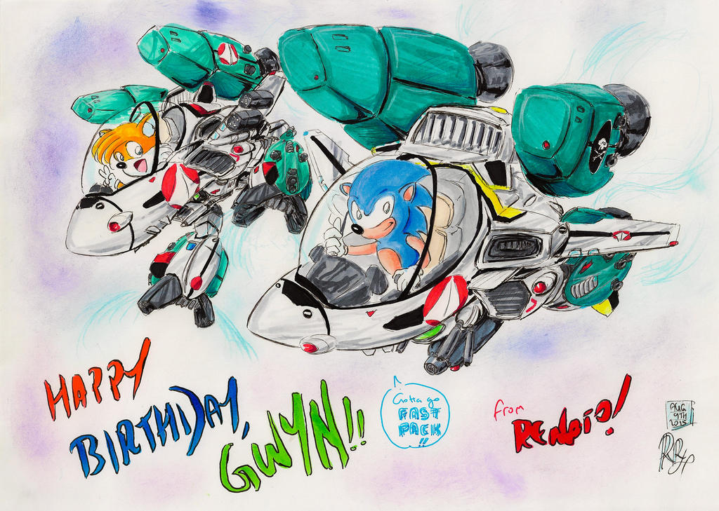 Macross X Sonic Birthday Card For Gwyn By Rr0722 On Deviantart