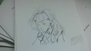 Mylene Jenius (Macross7) quick sketch