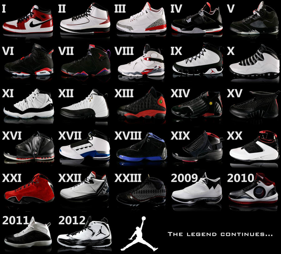 air jordan shoes chronology
