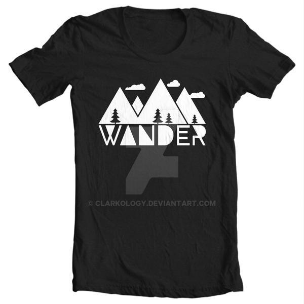 Shirt: Wander by Clarkology