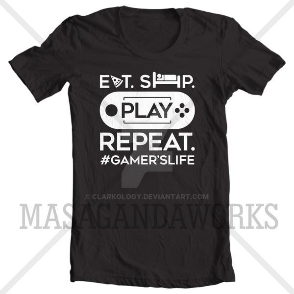 SHIRT: Gamer's Life by Clarkology