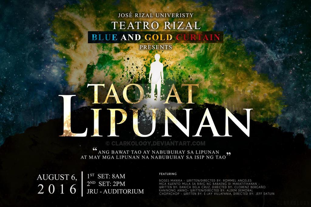 Tao at Lipunan Tarp Design by Clarkology