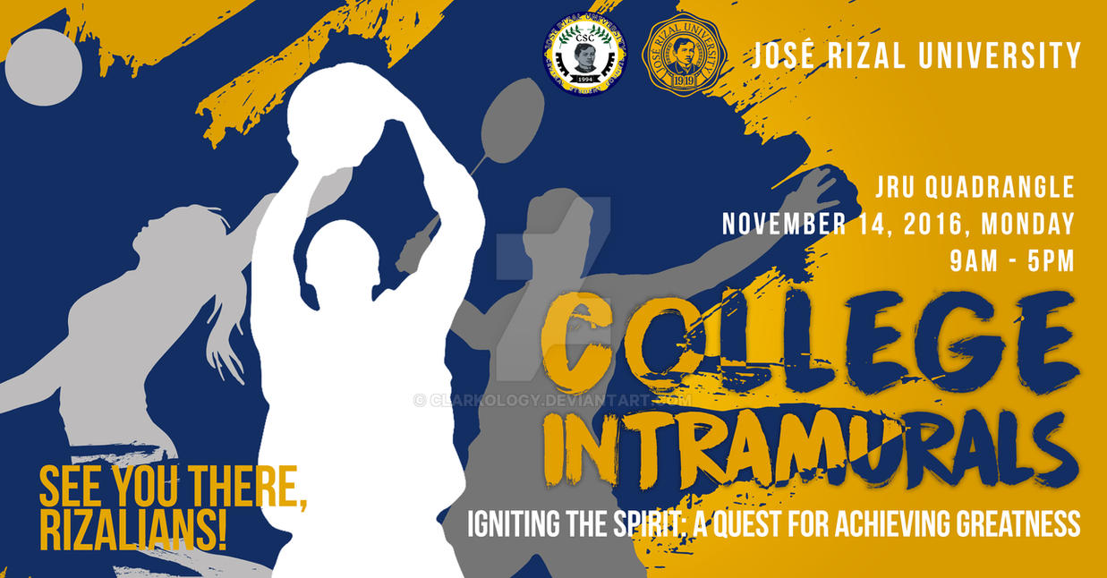 JRU College Intrams Banner Design by Clarkology