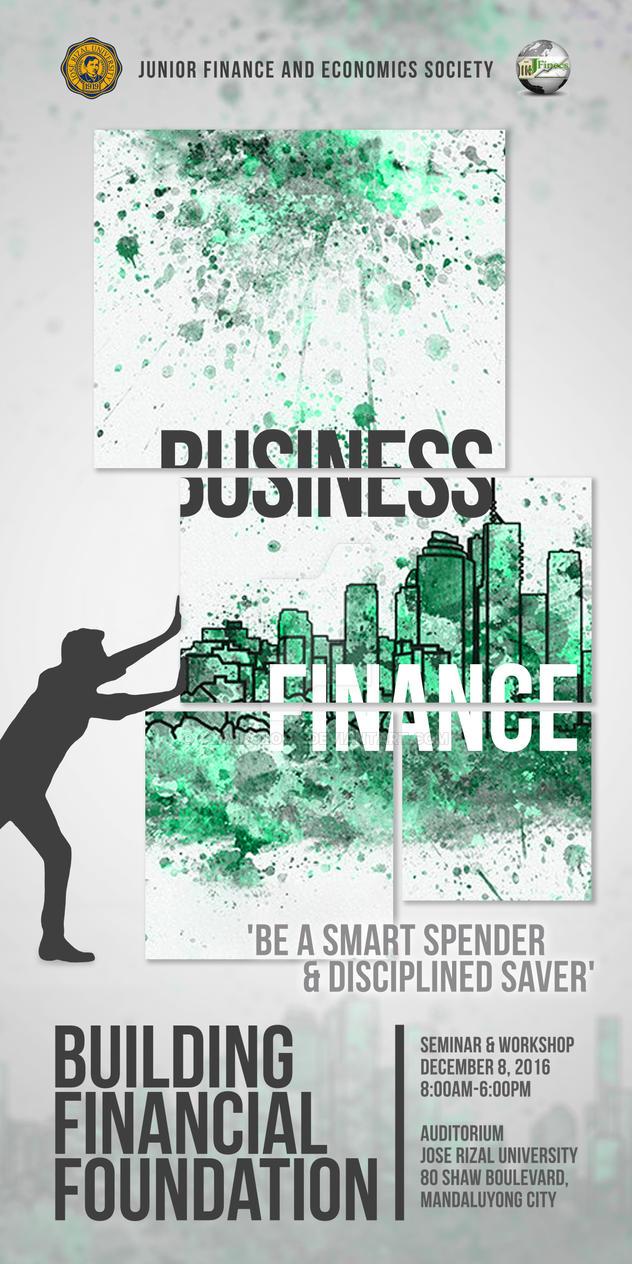 JFINECS Building Financial Foundation Design by Clarkology