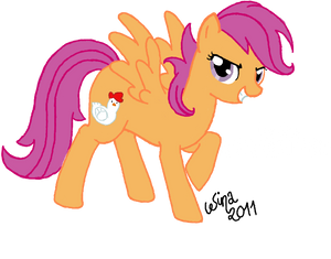 Scootaloo, the chicken pony