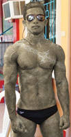 Poolside statue #01