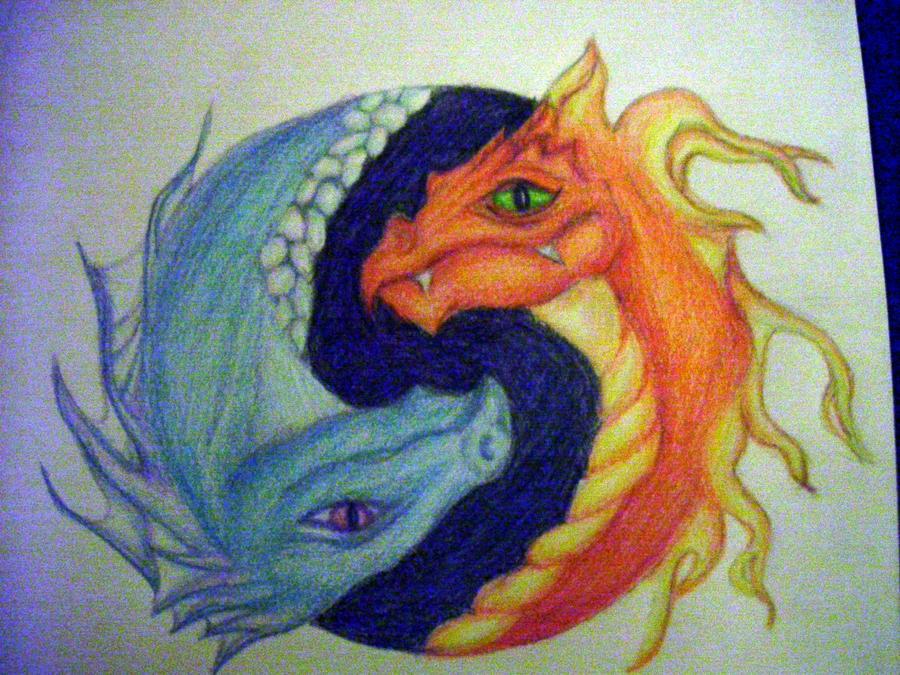 Yin and Yang Dragon Tattoos