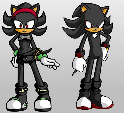 Shadowette and Shadow the Hedgehog