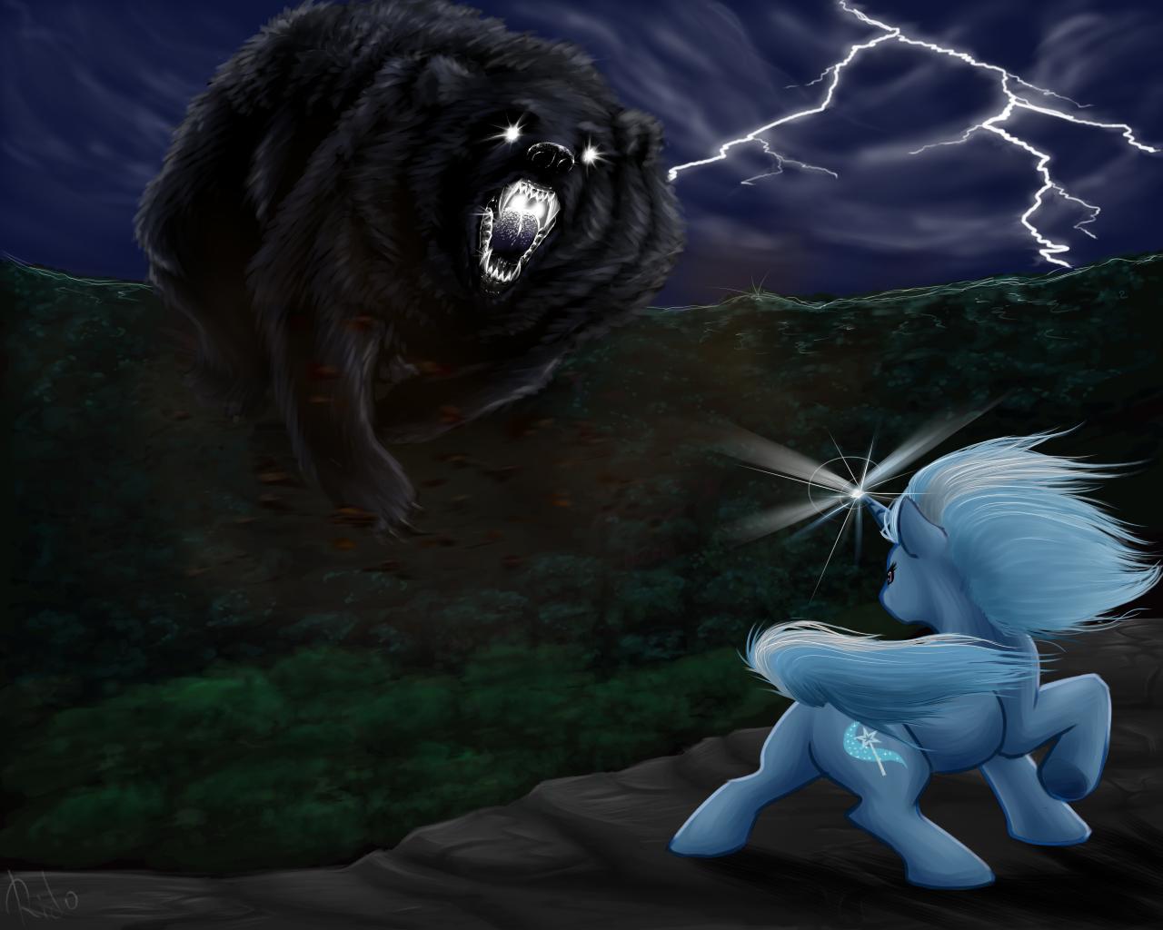 Trixie vs Ursa Major by Korcika