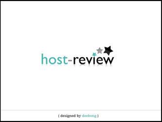 host-review logo design
