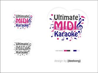 UltimateMIDIKaroke Logo Design