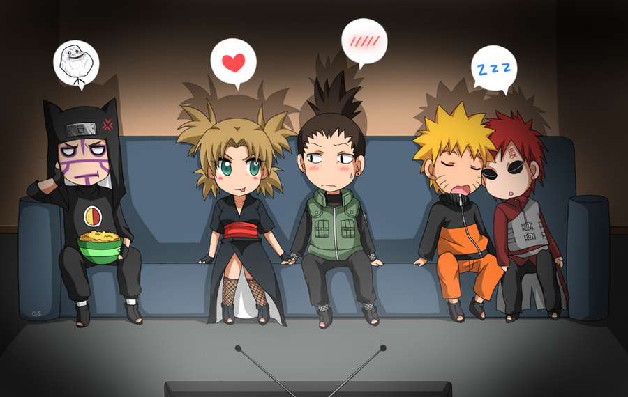 ShikaTema, GaaNaru, Kankuro: TV :D by Endless-Rainfall on DeviantArt Gaara And Kankuro Brothers