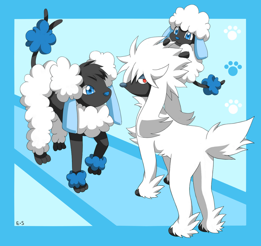 Furfrou Pokemon Furfrou, spudle and hydrudle