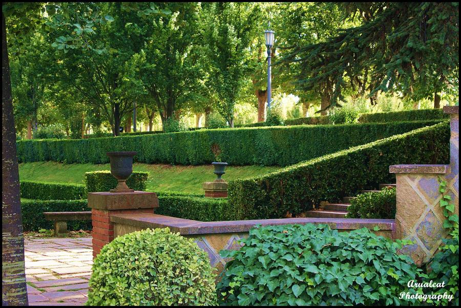 Jardines de Pamplona by arualcat