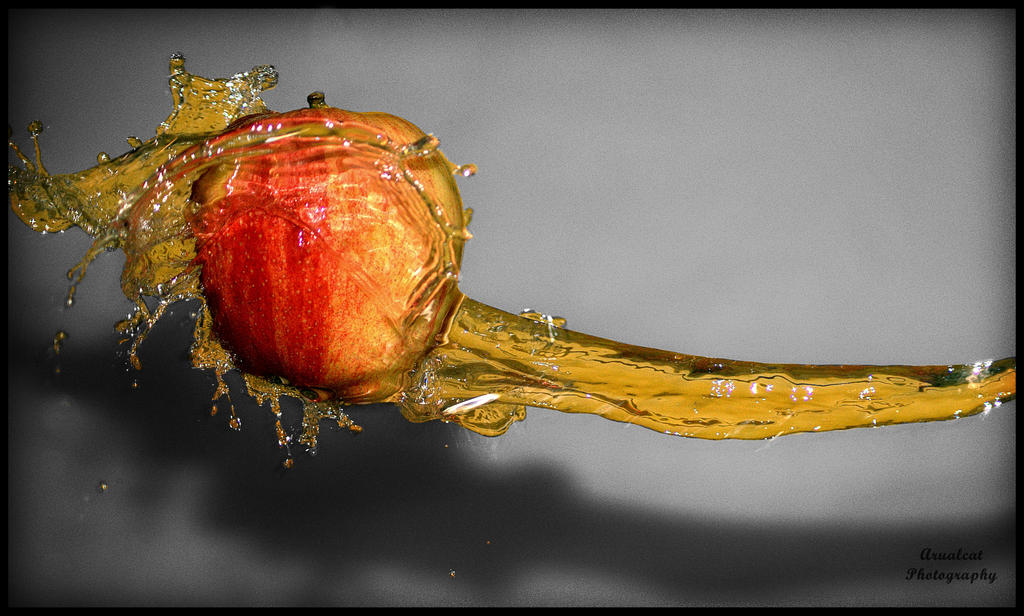 Water and apple