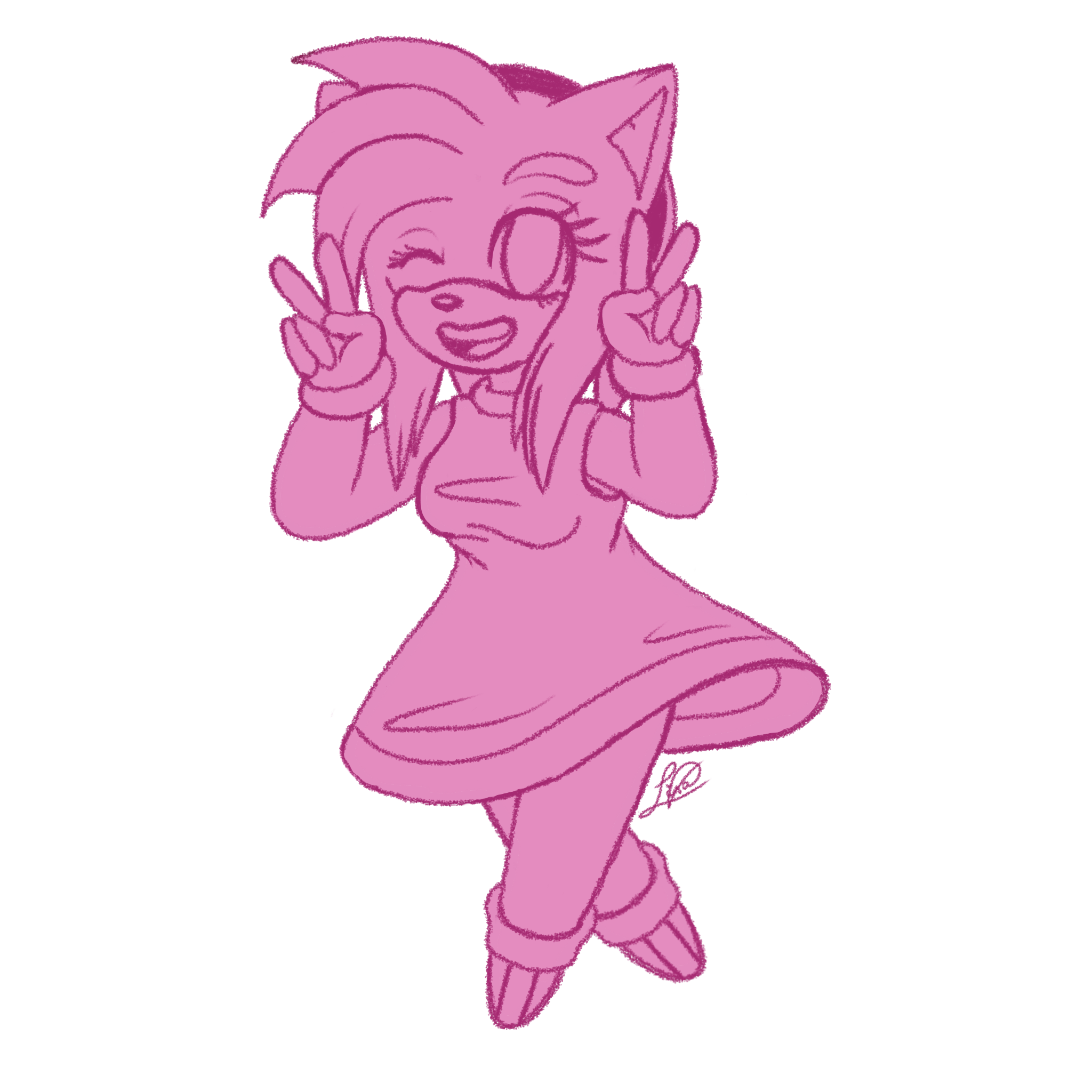 Ko Fi Sketches 1 Amy Rose By Kathy The Echidna On Deviantart