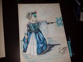My beatiful niece in Elsa costume !!