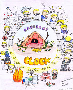 Bagienny clock - old