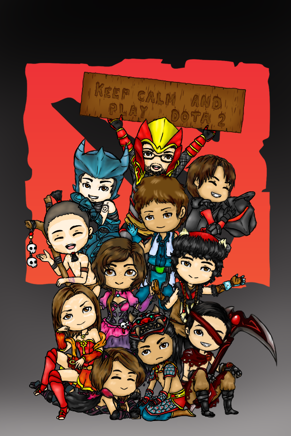 keep calm and play dota 2 by dp ckc on deviantart