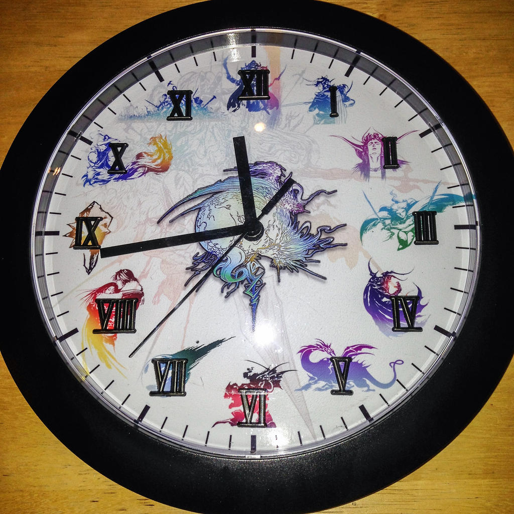 Final Fantasy Logos Clock by KuroPuP